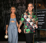 Ayda Field Photo - Photo by gotpapstarmaxinccomSTAR MAXCopyright 2018ALL RIGHTS RESERVEDTelephoneFax (212) 995-119691418Robbie Williams and Ayda Field are seen outside Catch Seafood Restaurant in West Hollywood Los Angeles CA