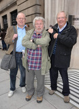 Brooke Taylor Photo - EXCLUSIVE 1907s television comedy trio The Goodies consisting of Tim Brook Taylor Bill Oddie and Graham Garden pose for a nostalgic photo outside the BBC London UK 11110Fees must be agreed prior to publication