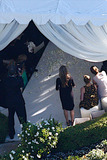 Ayda Field Photo - Aerial views of Robbie Williams intimate but lavish wedding to actress Ayda Field The wedding organized mainly by Robbies doting mother Jan 69 was reportedly held in front of family and close friends and took place at his mansion in Mulholland Estates Robbie 36 and Ayda 31 are looking forward to a long-term future and according to reports are also hoping to start a family together The two have been together for three years and Williams proposed to Field last November but only announced the wedding date to family and friends last week Robbie who recently reunited with his former band Take That reportedly received a wedding surprise from his bandmates who made a wedding video for him congratulating him and telling him how much they love him Beverly Hills CA 8710