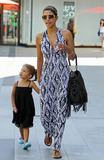 Juvenile Photo - Despite recent reports of an alleged stalker arrested at her home actress Halle Berry looks happy and relaxed wearing a black-and-white geometric leaf-patterned dress as she spends a day out shopping at Westfield Mall with daughter Nahla and a friend The group stopped in at Giggles and Hugs and later got a snack at Pinkberry According to reports authorities arrested an alleged stalker outside Berrys Hollywood Hills home last week The alleged stalker Richard Franco who had been seen on her property three times in as many days has an extensive criminal past that includes serving time for battery last month and other offenses including felony car theft felony vandalism drug use and juvenile offenses Los Angeles CA 72611