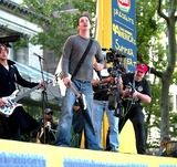 Arion Salazar Photo - (Third Eye Blind) Tony Fredianelli Stephen Jenkins and Arion Salazar K31018hmc Third Eye Blind and Trista Rehn on Good Morning America Summer Concert Series at Bryant Park in New York City 662003 Photo Byhenry McgeeGlobe Photos Inc