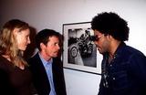 Lenny Kravitz Photo - Lenny Kravitzmark Seliger Photo Exhibit and Book Signing NYC 122001 Photo by Henry McgeeGlobe Photos Inc 2001 Tracy Pollan Michael J Fox Lenny Kravitz
