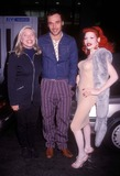 AMANDA LAPORE Photo - 241998 Pecker Premiere at Loews 19th St Theatre New York City Deborah Harry David Lachapelle and Amanda Lapore Photo by Henry McgeeGlobe Photos Inc