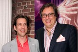 Douglas Carter Beane Photo - Douglas Carter Beane with His Partner Lewis Flinn Arriving at the Opening Night Performance of Xanadu at the Helen Hayes Theatre in New York City on July 10 2007 Photo by Henry McgeeGlobe Photos Inc 2007