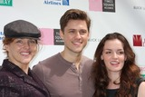 Aaron Tveit Photo - NYC  091309Alice Ripley Aaron Tveit and Jennifer Damiano (Next to Normal) at Broadway on Broadway 2009 in Times SquareDigital Photo by Adam Nemser-PHOTOlinknet