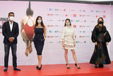Amira Casar Photo - VENICE ITALY - SEPTEMBER 02 Lyes Salem Kamir Anouz Zo Adjani and Amira Casar attend Honey Cigar photocall at the Giornate degli Autori during the 77th Venice Film Festival on September 02 2020 in Venice Italy(Photo by Laurent KoffelImageCollectcom)