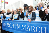 KIM CATRALL Photo - March 7 2014 New York CityTrudie Styler Kim Catrall and Naomi Campbell at the UN Women for Peace March in March 2014 to end violence against women on March 7 2014
