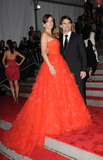 NASCAR DRIVERS Photo - NASCAR driver Jeff Gordon (R) and wife Ingrid Vandebosch arriving at The Model as Muse Embodying Fashion Costume Institute Gala at The Metropolitan Museum of Art on May 4 2009 in New York City