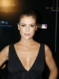 ALIYSSA MILANO Photo - Actress Alyssa Milano at the 33 Club party presented by MLBcom at the Roseland Ballroom on July 13 2008 in New York City