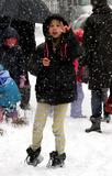 AVA JACKMAN Photo - January 21 2014 New York CityActress Deborra-Lee Furness picks up her daughter Ava Jackman from school in the snow in Soho on January 21 2014 in New York City