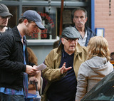 Allen Coulter Photo - Actors Robert Pattinson and Emilie de Ravin and director Allen Coulter (C) on theSoho set of the new movie Remember me on June 24 2009 in New York City