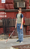 Scott Terra Photo - Daredevil film set on West 46 Street in New York Pictured    Scott Terra who plays young Daredevil November 15 2002