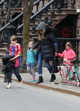 JAMES BRODERICK Photo - March 25 2015 New York CityActress Sarah Jessica Parker goes out with her children James Broderick Marion Broderick and Tabitha Broderick on her 50th birthday on March 25 2015 in New York CityBy Line Zelig ShaulACE PicturesACE Pictures Inctel 646 769 0430