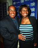 AL ROCKER Photo - Favorite NBCs weatherman AL ROCKER and his very pregnant wife DEBORAH ROBERTS attend a party to celebrate Rosie Magazines first anniversary at International Center of Photography in New York Popular TV personality Rosie ODonnell is the editorial director of magazine  April 16 2002