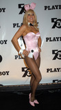 Playboy Magazine Photo - Playboy Bunnies at the celebration of the 50th Anniversary of Playboy Magazine Hefners new 24-year-old girlfriend Holly Madison is on the right New York November 5 2003