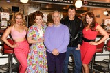 Cheryl Baker Photo - Heidi Range Cheryl Baker Henry Winkler Ben Freeman and producer Amy Anzel at the photocall for Happy Days The Musical at Eds Easy Diner Trocadero London 08012014 Picture by Steve Vas  Featureflash