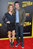 Ashley Hinshaw Photo - Topher Grace  girlfriend Ashley Hinshaw at the world premiere of his movie American Ultra at The Ace Hotel DowntownAugust 18 2015  Los Angeles CAPicture Paul Smith  Featureflash