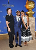Aziz Ansari Photo - Zoe Saldana (right) Aziz Ansari  Olivia Wilde at the nominations announcement for the 2014 Golden Globe Awards at the Beverly Hilton HotelDecember 12 2013  Los Angeles CAPicture Paul Smith  Featureflash