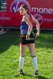 Charlie Webster Photo - Charlie Webster poses at the start of the 2014 Virgin Active London Marathon Blackheath Common London 13042014 Picture by Dave Norton  Featureflash