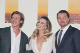 Margot Robbie Photo - Brad Pitt Margot Robbie Leonardo DiCaprio 07222019 The Los Angeles Premiere of Once Upon A Time In Hollywood held at the TCL Chinese Theatre in Los Angeles CA Photo by Izumi Hasegawa  HollywoodNewsWireco