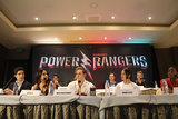 Ludi Lin Photo - Ludi Lin Becky G Dean Israelite Dacre Montgomery Bill Hader Naomi Scott John Gatins RJ Cyler 03112017 Power Rangers Press Conference held at Four Seasons Los Angeles at Beverly Hills in Los Angeles CA Photo by Izumi Hasegawa  HollywoodNewsWireco