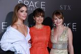 Carla Gugino Photo - Janet Montgomery Carla Gugino Britt Robertson 01172017 The Los Angeles Premiere of The Space Between Us held at the ArcLight Hollywood in Los Angeles CA Photo by Izumi Hasegawa  HollywoodNewsWireco