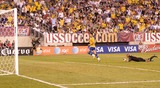 Tim Howard Photo - Brazil forward Alexandre Pato (9) watches his shot after dribbling past US goalkeeper Tim Howard (1)  during the US vs Brazil game at the New Meadowlands Stadium on August 10 2010 in East Rutherford New Jersey