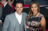 JLS Photo - London UK JLS Marvin Humes and wife Rochelle Wiseman at  the World Premiere of their film One Directions This Is Us at The Empire Leicester Square London England UK on 20th August 2013 Ref LMK318-45015-210813 Justin NgLandmark MediaWWWLMKMEDIACOM