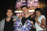 Anthony Kavanagh Photo - London UK  Anthony Kavanagh Andrew Monk (Simon Cowell lookalike)and Kelle Bryan posing at a photocall for The eXtra Factor a new interactive comedy musical at Salvador  Amanda in central London  21 August 2008Ali KadinskyLandmark Media