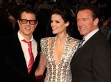 Alexander Arnold Photo - London UK Johnny Knoxville Jaimie Alexander and Arnold Schwarzenegger at the UK Premiere of  The Last Stand at the Odeon West End Leicester Square 22nd January 2013Keith MayhewLandmark Media