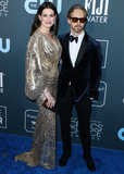 Anne Hathaway Photo - SANTA MONICA LOS ANGELES CALIFORNIA USA - JANUARY 12 Anne Hathaway and Adam Shulman arrive at the 25th Annual Critics Choice Awards held at the Barker Hangar on January 12 2020 in Santa Monica Los Angeles California United States (Photo by Xavier CollinImage Press Agency)