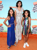 Giselle Photo - LOS ANGELES CA USA - MARCH 23 Mercedes Lomelino Evangeline Lomelino and Giselle Lomelino of GEM Sisters arrive at Nickelodeons 2019 Kids Choice Awards held at the USC Galen Center on March 23 2019 in Los Angeles California United States (Photo by Xavier CollinImage Press Agency)
