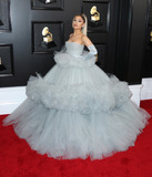 Ariana Grande Photo - LOS ANGELES CALIFORNIA USA - JANUARY 26 Singer Ariana Grande wearing a custom Giambattista Valli dress with Christian Louboutin shoes arrives at the 62nd Annual GRAMMY Awards held at Staples Center on January 26 2020 in Los Angeles California United States (Photo by Xavier CollinImage Press Agency)