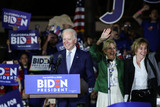 Vice President Joe Biden Photo - BALDWIN HILLS LOS ANGELES CALIFORNIA USA - MARCH 03 Former Vice President Joe Biden 2020 Democratic presidential candidate walks onstage while his wife Jill Biden center and sister Valerie Biden right stand during the Jill and Joe Biden 2020 Super Tuesday Los Angeles Rally held at the Baldwin Hills Recreation Center on March 3 2020 in Baldwin Hills Los Angeles California United States (Photo by Xavier CollinImage Press Agency)