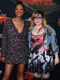 Aisha Tyler Photo - HOLLYWOOD LOS ANGELES CA USA - MARCH 04 Actress Aisha Tyler and Kirsten Vangsness arrive at the World Premiere Of Marvel Studios Captain Marvel held at the El Capitan Theatre on March 4 2019 in Hollywood Los Angeles California United States (Photo by Xavier CollinImage Press Agency)