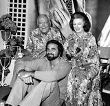 Burt Reynolds Photo - Pat Obrien Burt Reynolds and Myrna Loy at the Nostalgia Party at Goldwyn Studios (2566) 1977 Nate CutlerGlobe Photos Inc
