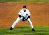 Aaron Boone Photo - Game 6 of the 2003 World Series New York Yankees Vs the Florida Marlins Yankee Stadium 161st Street the Bronx New York 10252003 Photo John Barrett  Globe Photos Inc 2003 Aaron Boone