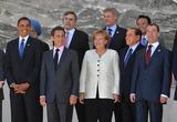 Angela Merkel Photo - GROUP PHOTO G8 SUMMIT BARACK OBAMA with NICOLAS SARKOZY GORDON BROWN  ANGELA MERKEL  STEPHEN HARPER  SILVIO BERLUSCONI TARO ASO and DMITRY MEDVEDEVPRESIDENT OF USA PRESIDENT OF FRANCE PRIME MINISTER OF GREAT BRITAIN CHANCELLOR OF GERMANY PRIME MINISTER OF CANADA PRIME MINISTER OF ITALY PRIME MINISTER OF JAPAN  PRESIDENT OF RUSSIA K62592ALSTG8 Summit Meeting 2009 at the Guardia di Finanza School In LAquila Abruzzo Italy 07-07-2009Photo by Allstar-Globe Photos inc