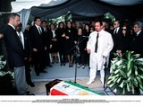 As Yet Photo - IMAPRESS PH  CLEMOT  BENITOFUNERAL OF PRINCESS LEILA PAHLAVI IN PARIS 16TH JUNE 2001 IN TOTAL BEREAVEMENT THE EX-EMPRESS OF IRAN FARAH PAHLAVI BURIED HER DAUGHTER IN THE PASSY CEMETERY IN PARIS LEILA PAHLAVI 31 PASSED AWAY A WEEK AGO IN LONDON THE OFFICIAL COMMUNIQUE WRITTEN BY HER MOTHER INDICATED THAT SHE PASSED AWAY IN HER SLEEP BUT THE EXACT CIRCUMSTANCES OF THE DEACEASED REMAIN AS YET UNKNOWNBEHIND THE MOLLAH REZA II PRINCE ALI REZA PRINCESS FARAHNAZ EMPRESS FARAH PRINCESS ASHRAF THE SHAHS TWIN SISTER PRINCESS YASMINE AND ON THE RIGHT ABDO PAHLAVICREDIT IMAPRESSCLEMOTBENITOGLOBE PHOTOS INC