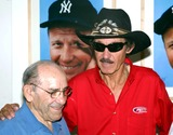 Yogi Berra Photo -  Sd08082003 the New York Yankees Celebrate Their Centennial with Nascar at Mickey Mantles Resturant NYC Yogi Berra_richard Petty Photo by Rick Mackler  Rangefinders  Globe Photosinc