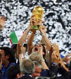 Andrea Pirlo Photo - Andrea Pirlo Lifts Wortd Cup  Italy V France Andrea Pirlo Lifts Wortd Cup Italy V France Olympic Stadium Berlin Germany 07-09-2006 K48556 Photo by Allstar-Globe Photos
