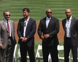 Tino Martinez Photo - New York Yankees Retire Andy Pettitte Number46 on Sunday August 23rd 2015 Jose Posada Number 20 Was Also Retired on Saturday August 22nd 2015 Photo by William Regan- Globe Photos Inc