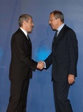 Tony Blair Photo -  Lisbon USA the Quartet of Middle East Mediators Meet in Lisbon This Is Tony Blairs First Meeting As the Groups Envoy in Picture Portuguese Prime Minister Jose Socrates and Sergei Lavrov Photo by Alvaro Isidoro-cityfiles-Globe Photos Inc 2007