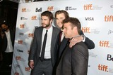 LUKE HEMSWORTH Photo - Actor Brothers Liam Hemsworth (l-r) Chris Hemsworth and Luke Hemsworth Attend the Premiere of Rush During the 38th Annual Toronto International Film Festival Aka Tiff at Roy Thomson Halll in Toronto Canada on 08 September 2013 Photo Alec Michael