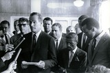 James Garner Photo - March For Jobs and Freedom on Washinton Charlton Heston_sammy Davis Jr Harry Belafonte_burt Lancaster James Garner_marlon Brando Globe Photosinc