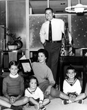 Shirley Temple Black Photo - Shirley Temple Black with Husband Charles Black and Children Linda Susan Lori and Charles Jr 1958 Supplied by Globe Photos Inc