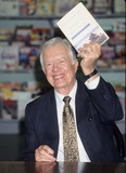 Jimmy Carter Photo - Jimmy Carter at Autographing His Newbook of Poems Glendale Ca 1995 K0602fb Photo by Fitzroy Barrett-Globe Photos Inc