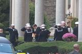 Yogi Berra Photo - Dale Berra Caring Remains of Yogi Berra at Yogi Berra Funeral Services at the Church of the Immception Montclair New Jersey John BarrettGlobe Photos