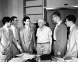 Albert Einstein Photo - Professor Albert Einstein with Students in Princeton Early 1930s Globe Photosinc