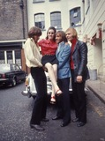 Bee Gees Photo - Bee Gees with Sister Leslie Photo by Globe Photos Inc Mauricegibbretro